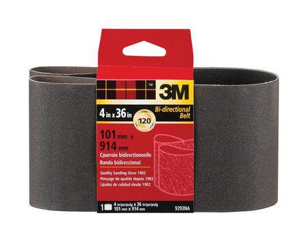 3M Sanding Belt 4 in. W x 36 in. L 120 Grit Fine 1 pk