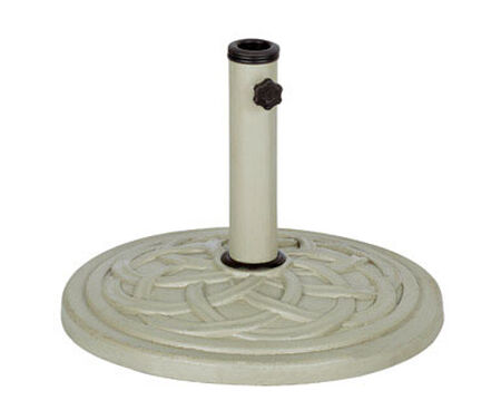 Bond Manufacturing Resin Stone Umbrella Base 13.18 in. H x 17.7 in. W Taupe