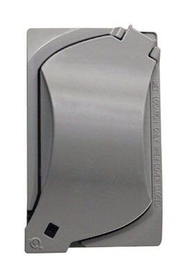 Sigma Rectangle Aluminum 1 gang Universal Cover For Wet Locations Gray