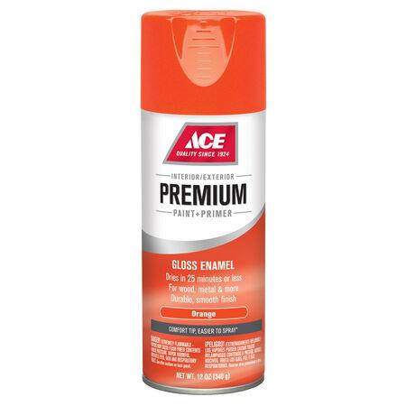 Ace Premium Gloss Orange Enamel Spray Paint 12 oz.