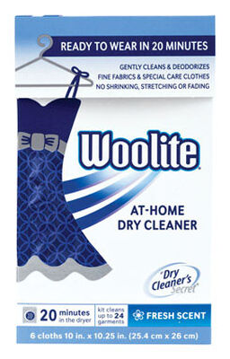 Woolite Fresh Scent Scent Home Dry Cleaner 6 count