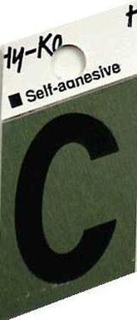 Hy-Ko Self-Adhesive Black 1-1/2 in. Aluminum Letter C