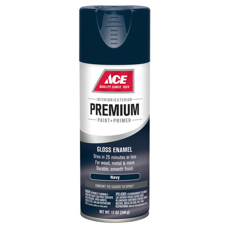 Ace Premium Gloss Navy Enamel Spray Paint 12 oz.