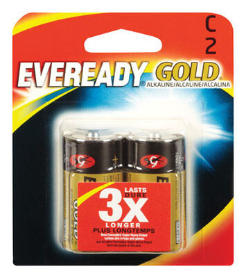 Energizer Eveready Gold C Alkaline Batteries 1.5 volts 2 pk