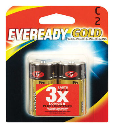 Energizer Eveready Gold C Alkaline Batteries 1.5 volts 2 pk