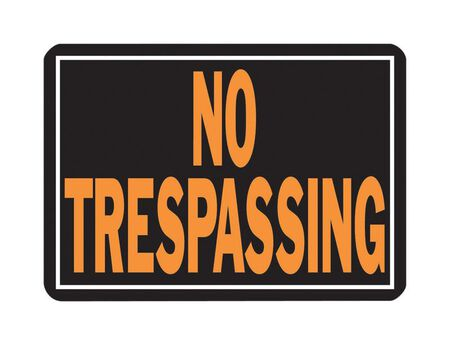 Hy-Ko English 10 in. H x 14 in. W Aluminum Sign No Trespassing