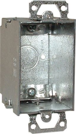 Raco 4-1/4 in. H Rectangle 1 Gang Switch Box 1/2 in. Gray Steel