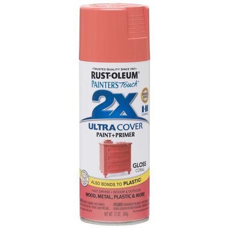 Rust-Oleum Painter's Touch 2X Ultra Cover Gloss Coral Spray Paint 12 oz.