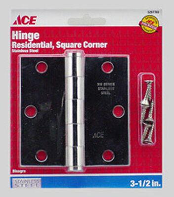 Ace Steel Residential Hinge 3-1/2 in. L Stainless Steel 1 pk