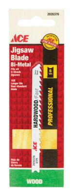 Ace Bi-Metal U-Shank 3-5/8 in. L Jig Saw Blade 6 TPI