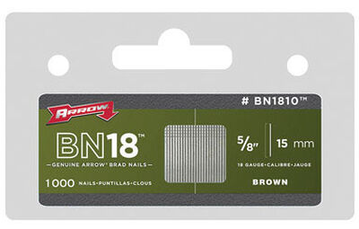 Arrow BN18 18 Ga. x 5/8 in. L Galvanized Steel Brad Nails Trim 1000 pk