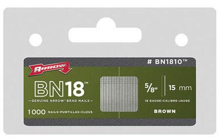 Arrow BN18 18 Ga. x 5/8 in. L Galvanized Steel Brad Nails Trim 1000 pk