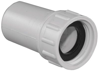 Lasco PVC Swivel Hose Adapter 1/2 in. Dia. x 3/4 in. Dia. White 1 pk