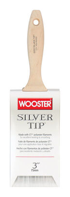 Wooster Silver Tip 3 in. W Flat Polyester Paint Brush