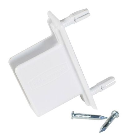 Rubbermaid Fast Track Wall/End Bracket White