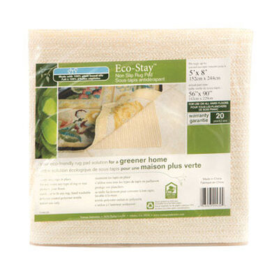 Eco Stay 5 ft. L x 8 ft. W Polyester Indoor Rug Pad