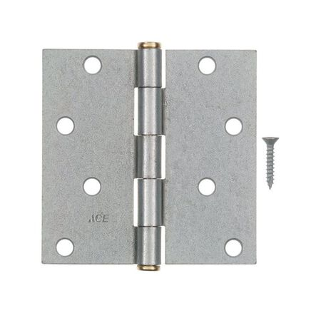 Ace Steel Residential Hinge 4 in. L Galvanized 1 pk