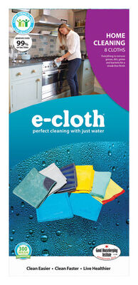 E-Cloth Home Cleaning Polyester/Polyamide Cleaning Cloth 8 pk