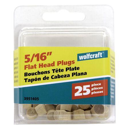 Wolfcraft Flat Hardwood Head Plug 5/16 in. Dia.