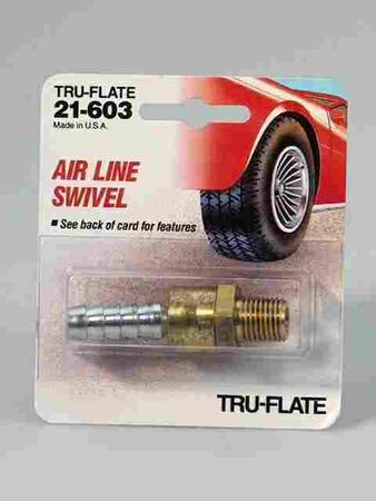 Tru-Flate Brass Airline Swivel 1/4 in. MNPT x 3/8 in. ID in. ID/NPT Female/Male