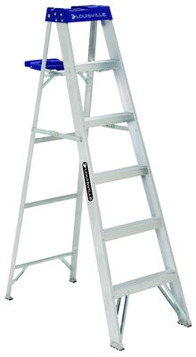 6 ft Louisville AS2106 Aluminum Step Ladder, Type I, 250 lb Load Capacity