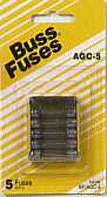 Bussmann 5 amps AGC Glass Tube Fuse 5 pk