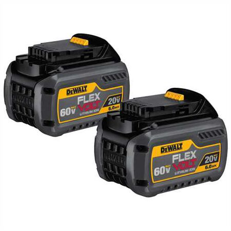 FLEXVOLT(TM) 20/60V MAX BATTERY PACK 6.0AH DUAL PACK