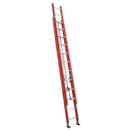 24 ft Louisville FE3224 Fiberglass Extension Ladder, Type IA, 300 lb Load Capacity