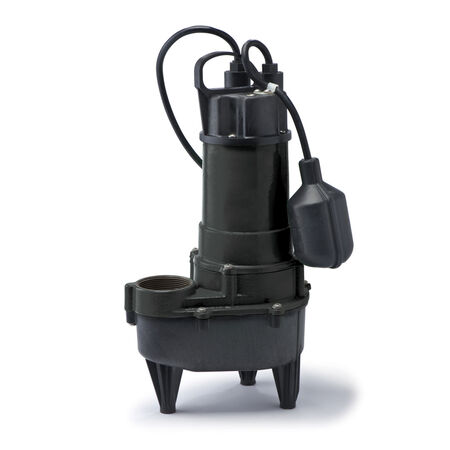 ECO-FLO Cast Iron Sewage Pump 1/4 hp 5 700 gph 115 volts
