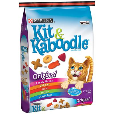 Purina Kit & Kaboodle Original Dry Adult Cat Food 16 lb.