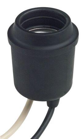 Leviton 660 watts Incandescent Single Circuit Socket 250 volts Black