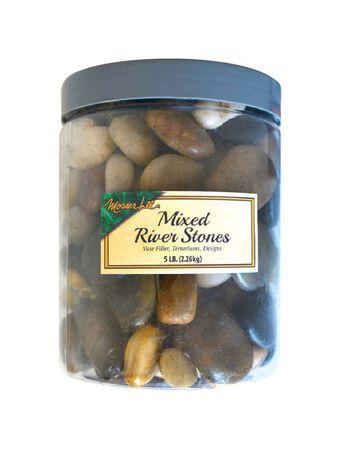Mosser Lee Mixed Brown Decorative Stone River Rock 5 lb.