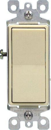Leviton Decora 15 amps Rocker 3-Way Switch Single Pole