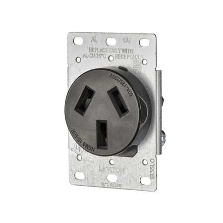 Leviton Electrical Receptacle 50 amps 10-50R 125/250 volts Black