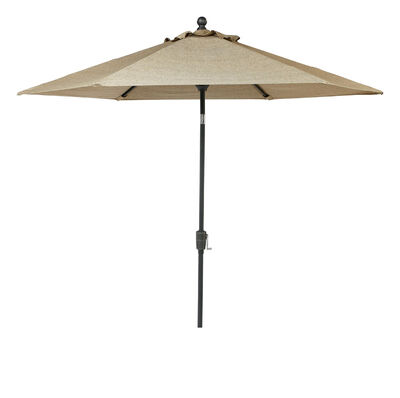Living Accents Avalon 9 ft. Dia. Tiltable Patio Umbrella Brown