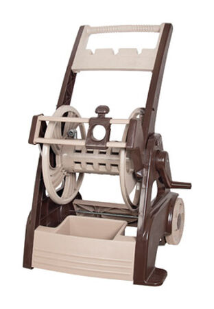 Ames Neverleak Wheeled Hose Cart with Hose Guide 250 ft. Brown/Tan