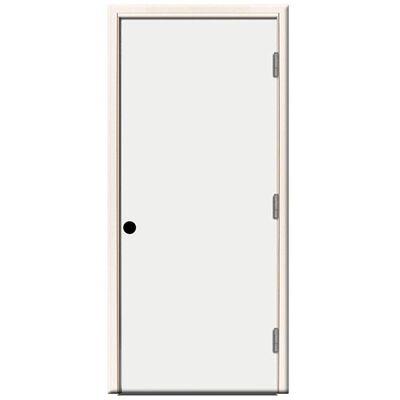 Steel Prehung Front Door Left Hand -32 in x 80 in