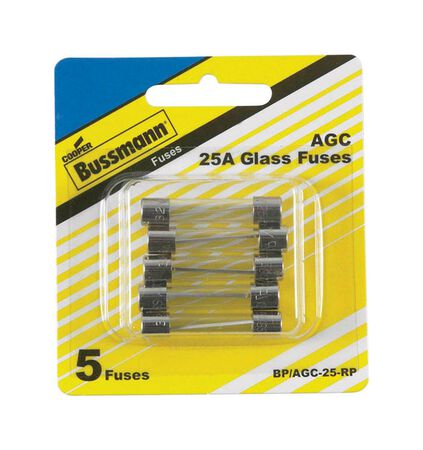Bussmann 25 amps AGC Automotive Fuse 5 pk