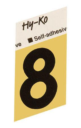 Hy-Ko Self-Adhesive Black Aluminum Number 8 1-1/2 in.
