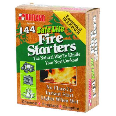 Rutland Safe Lite Wood Fiber Fire Starter 144 pk