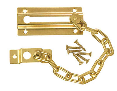 Ace 3.38 in. L Bright Brass Chain Door Guard