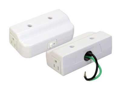 Westek Plug-In Convenience Box for Direct Wire Conversion White