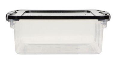 Homz Latching Storage Box 6-1/8 in. H x 13 in. W x 15-1/2 qt.