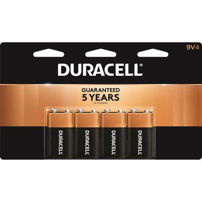 Duracell Coppertop 9V Alkaline Batteries 9 volts 4 pk