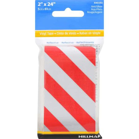 Hillman 24 in. Red/White Reflective Safety Tape