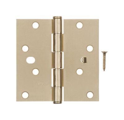 Ace Steel Residential Hinge 4 in. L Satin Brass 1 pk