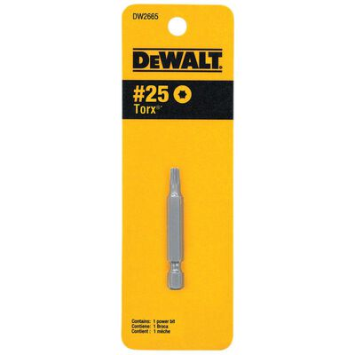 DeWalt T25 in. Torx Screwdriver Bit 1 pc.