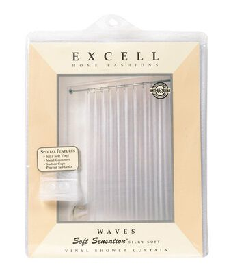Excell 70 in. H x 72 in. L Frosted Shower Curtain Liner