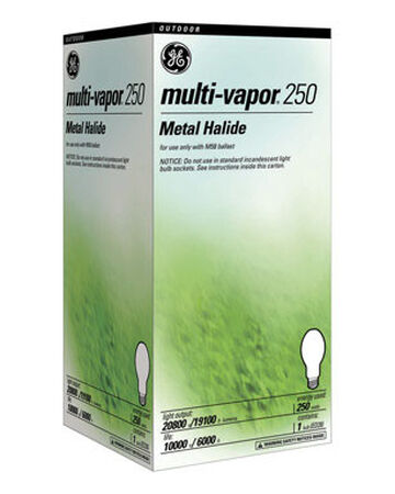 GE Multi-Vapor 250 watts 20 800 lumens 4200 K ED28 Mogul Base (E39) Metal Halide HID Light Bulb