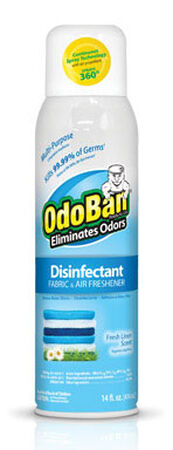 OdoBan 14 oz. Fresh Linen Scent Disinfectant Fabric & Air Freshener